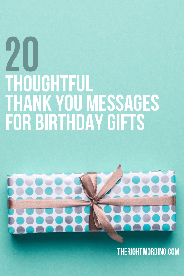 20 Thoughtful Thank You Messages For Birthday Gifts , What to write in a thank you card, thanks examples #thankyoucard #thankyoucards #thankyoumessages #thankyouquotes
