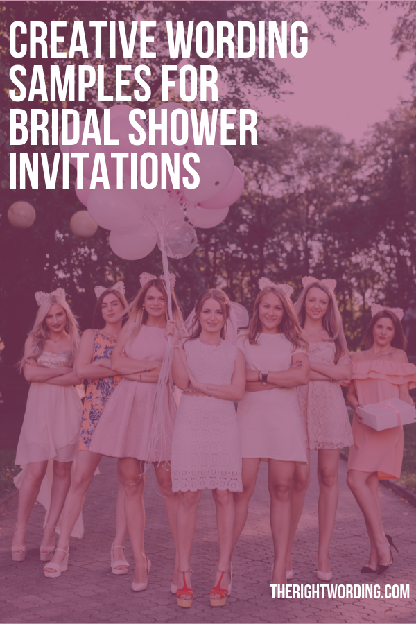 Creative Bridal Shower Invitation Wording Samples To Use For The Bride-To-Be #bridalshower #weddingplanning #weddinginvitations #bridalshowerdecor #bridalshowerparty #bridalshowerideas #bridalshowerstuff