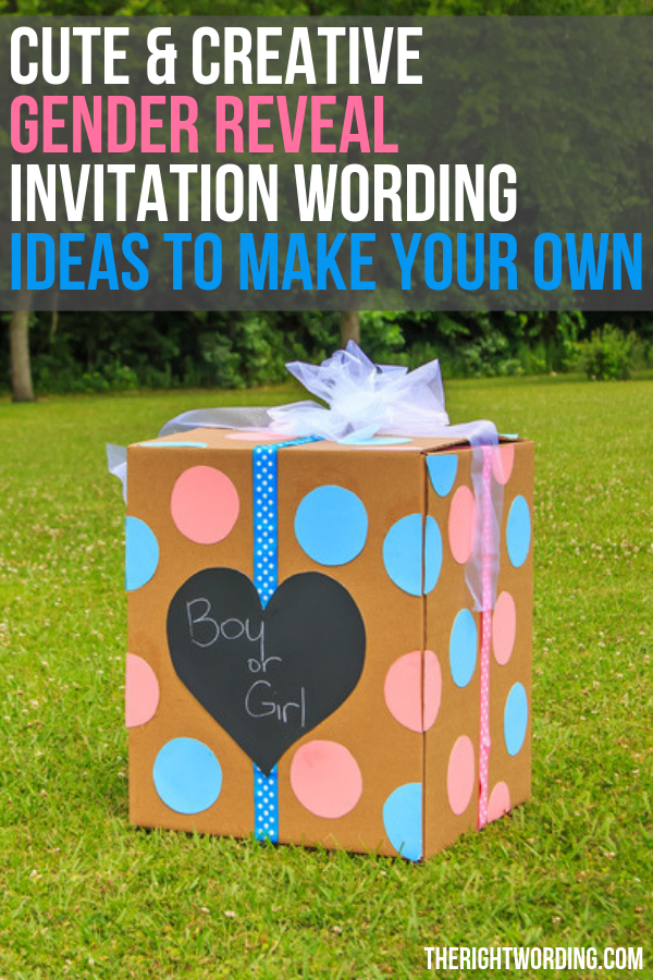 Creative Gender Reveal Invitation Wording Ideas To Make Your Own, could also work for baby shower party well #genderreveal #genderrevealparty #genderrevealideas #genderreveals