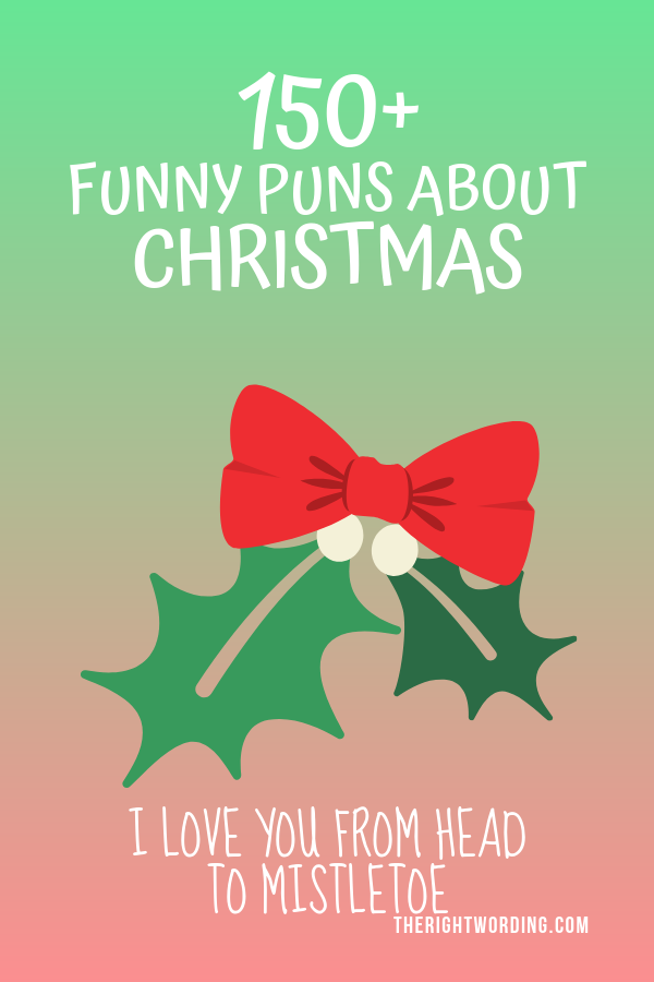 Best Christmas Puns That Will Sleigh You, Holiday Jokes and One Liners, Mistletoe joke #christmas #christmasjokes #christmaspuns #holidayjokes #holidaypuns #mistletoe