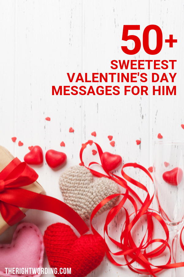 Happy Valentine's Day Husband! 50+ Sweetest Short and Cute Valentine Messages For Him #Valentine #valentinesday #valentines #husband #happyvalentinesday