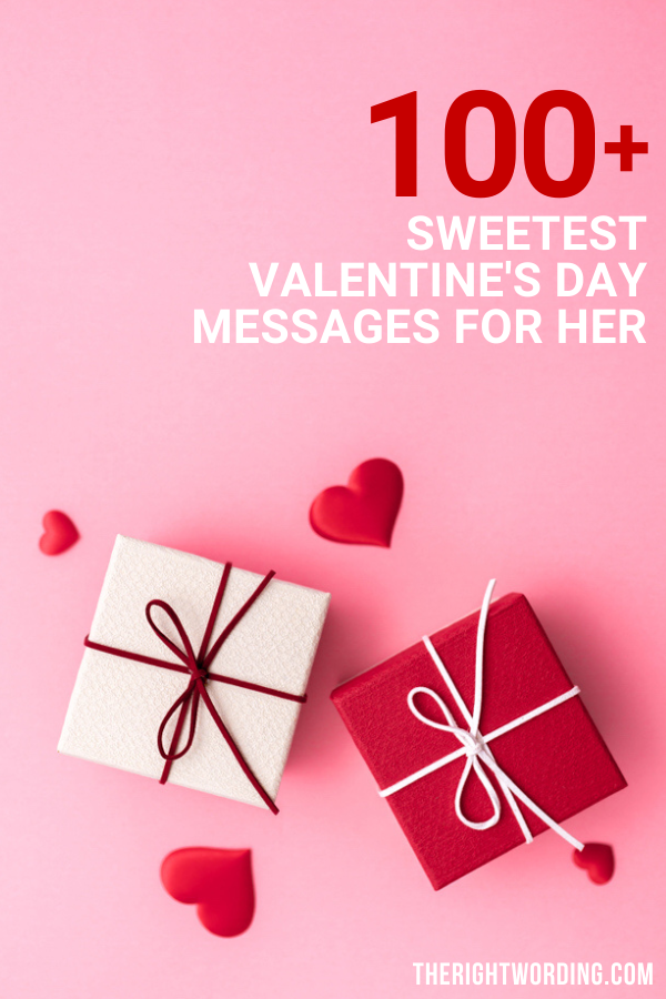 Happy Valentine's Day Wife! 100+ Sweetest Valentine Messages For Her, Cute and romantic Valentines quotes and wishes #valentinesday #valentine #valentines #valentinesdayquotes #valentinesdaymessages #lovequotes #lovemessages