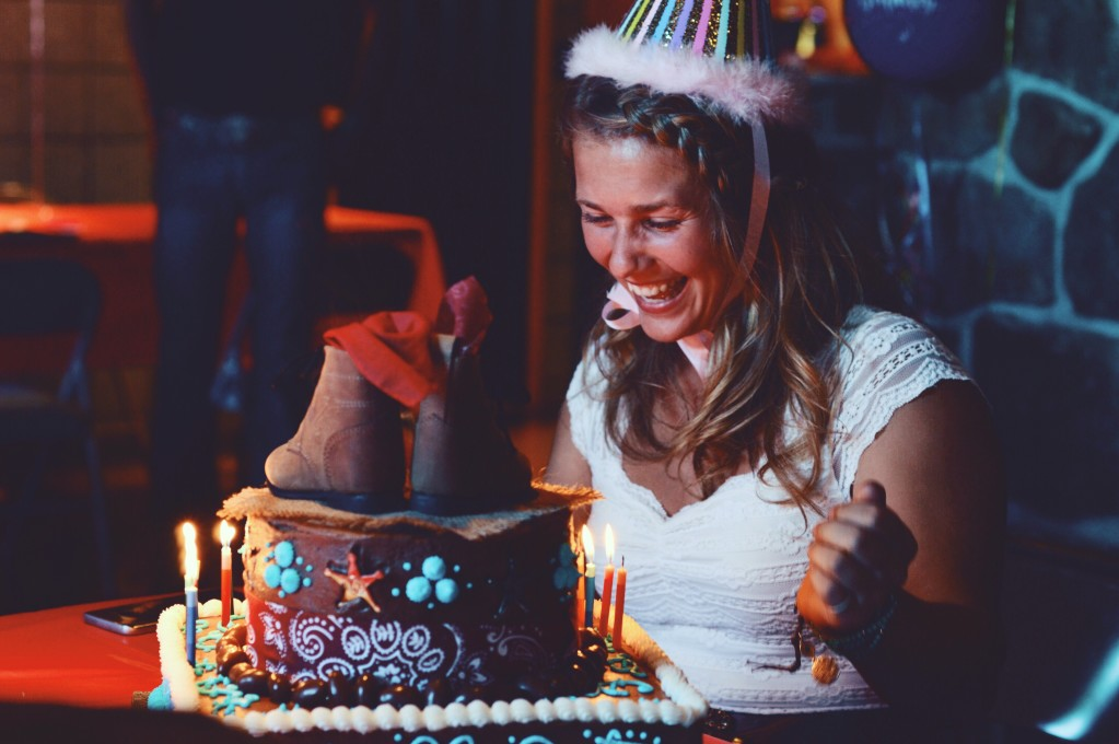 Happy Birthday Beautiful! cute happy woman on her birthday